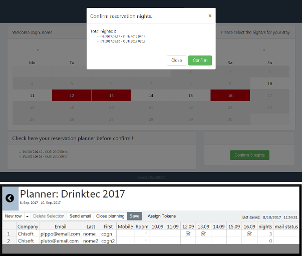 example roominglist planner